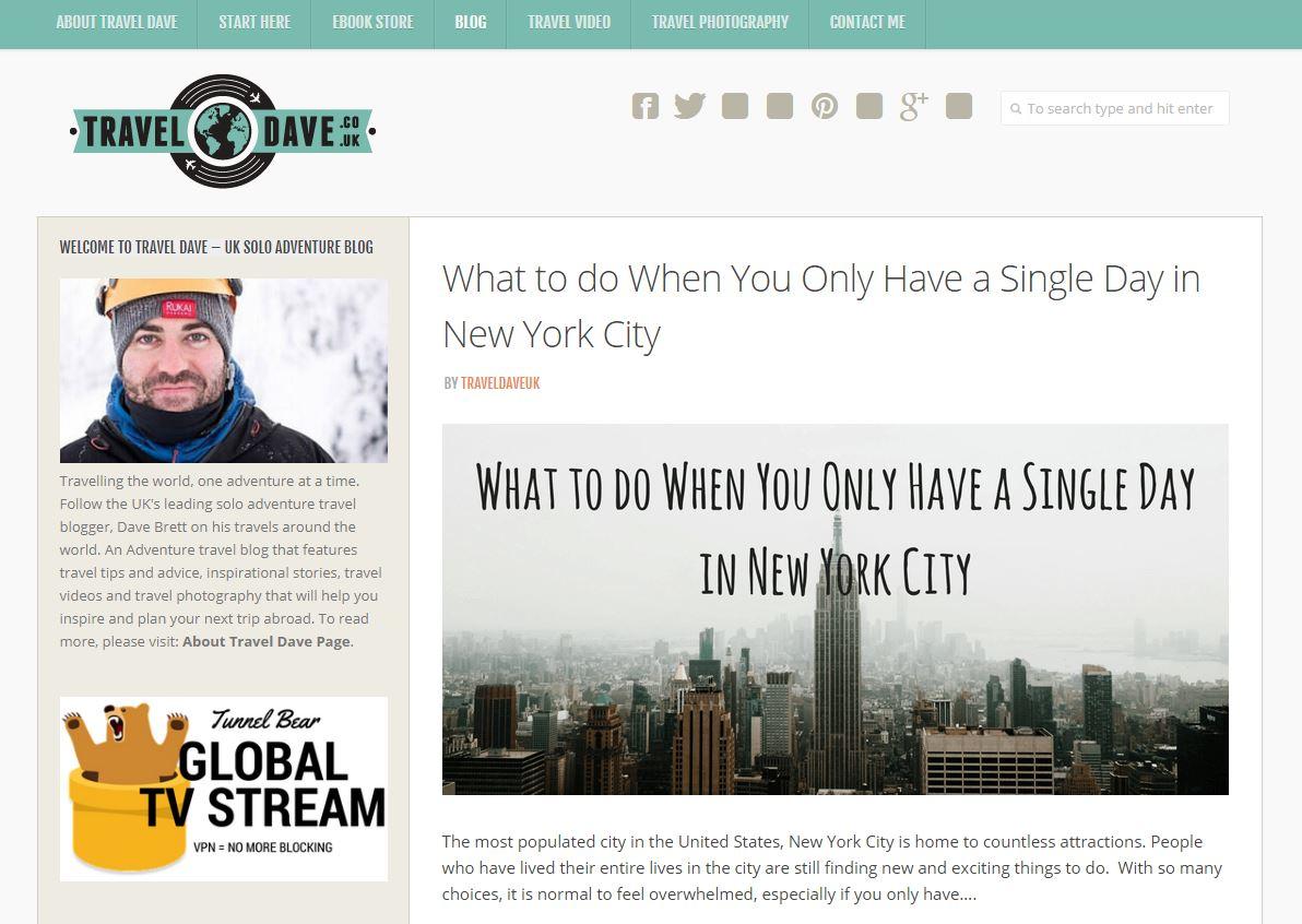 Travel Dave's expert blog
